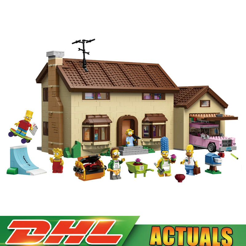 Lepin 16005 2575Pcs The Simpson's Family Kwik-E-Mart Set Building Blocks Bricks Funny Toys Gifts Compatible Legoings 71006 2018 moc dhl lepin 16005 simpson s family kwik e mart building blocks bricks set assembled toys gifts clone 71006