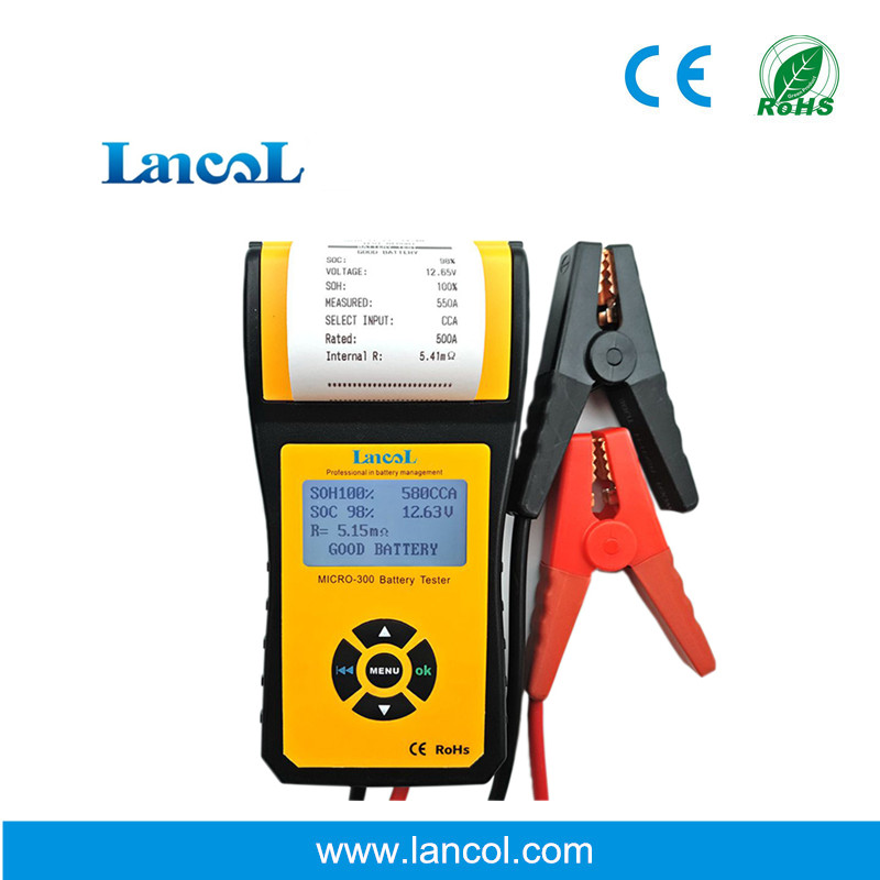 Professional Lancol Diagnostic Tool battery Tester Analyzer MICRO-300 CCA battery tester with printer 200ah digital car battery load tester with printer micro 300 2000cca 200ah 12v car diagnostic tool battery capacity checker