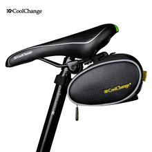 COOLCHANGE Waterproof Mountain Bike Saddle Bag Road Bike Tool Bag Seat Bicycle Saddlebag Cycling Seatpost Bike Repair Tool Bag