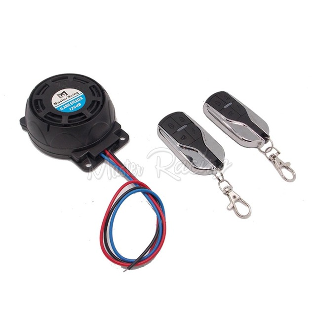 Universal Motorcycle Bike Scooter Alarm System Moto Security Speakers Anti-theft Burglar Alarm Remote Security Control Engine