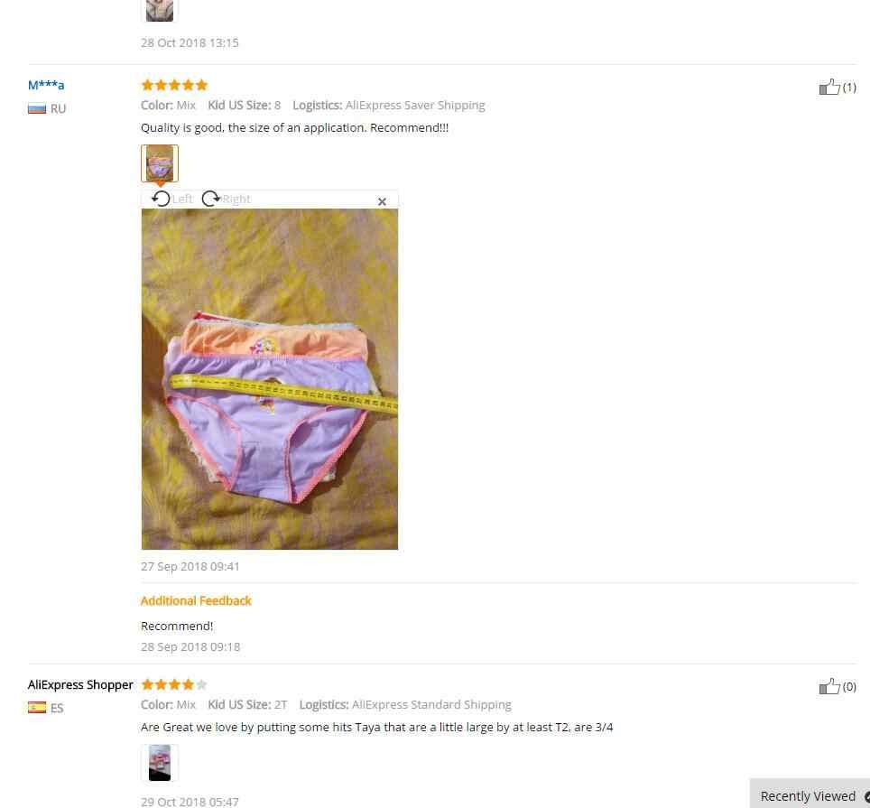 6 جزء/الوحدة الكرتون ملابس داخلية للأطفال لينة القطن الفتيات سراويل الأطفال سراويل للفتيات طفل سراويل الأطفال الملابس ad-874e-6P
