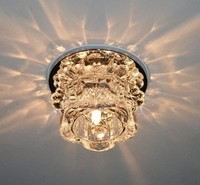 3W New Modern Crystal LED Ceiling Light aisle Lamp Fixture Lighting