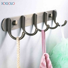 Xogolo Antique Brass Clothes Hook Wall Stainless Steel Row Fashion Coat Hooks