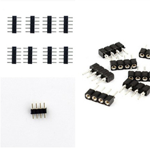 100pcs/lot, 4pin/5pin RGB/RGBW connector, 4 pin/5 pin needle, Female/male type double 5pin, easy connet for RGB/ RGBW strip