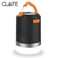 CLAITE портативный фонарь наружного освещения для кемпинга свет 440 люменов Многофункциональный USB Перезаряжаемый светодиодный свет с 10400 мАч ...