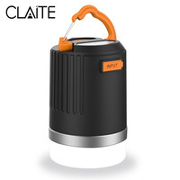 CLAITE Portable Lantern Outdoor Camping Light 440 Lumens Multifunction USB Rechargeable LED Light With 10400mAh Power Bank