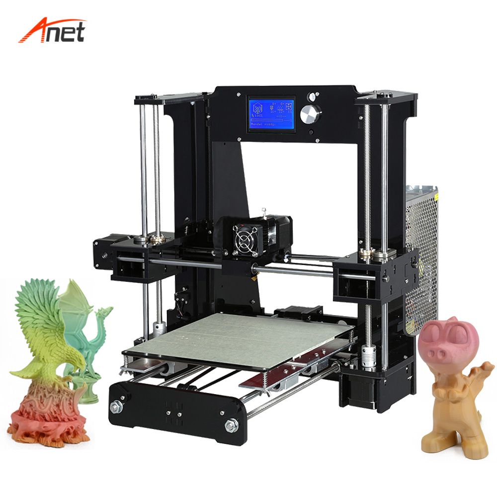 Anet A6 3D Printer Large Size Desktop Printer Kit LCD Screen Display with TF Card Off