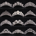 Hot Sale Pearl Crystal Rhinestone Flower Butterfly Crown Tiara Headband Wedding Bride Party Hair Comb For Girls And Woman Gifts