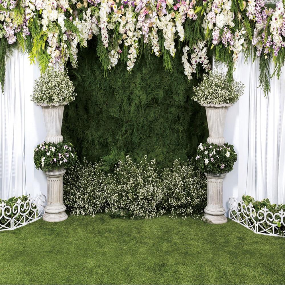 Wedding White Background: Elegant Wedding Background For Photo Studio Printed White