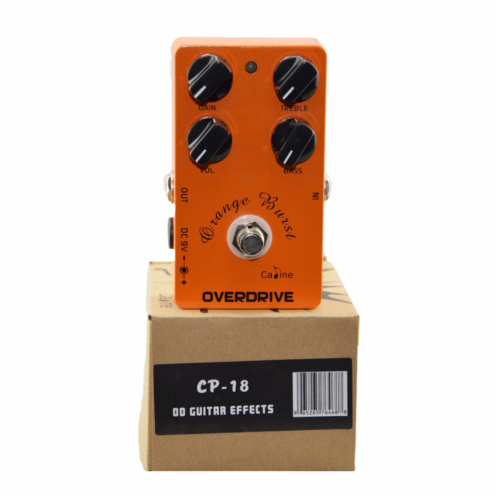 Caline CP-18 Guitar Pedal Overdrive True Bypass Design Orange Burst CP18 Caline Guitar Pedal Guitar Accessories part Hot sale