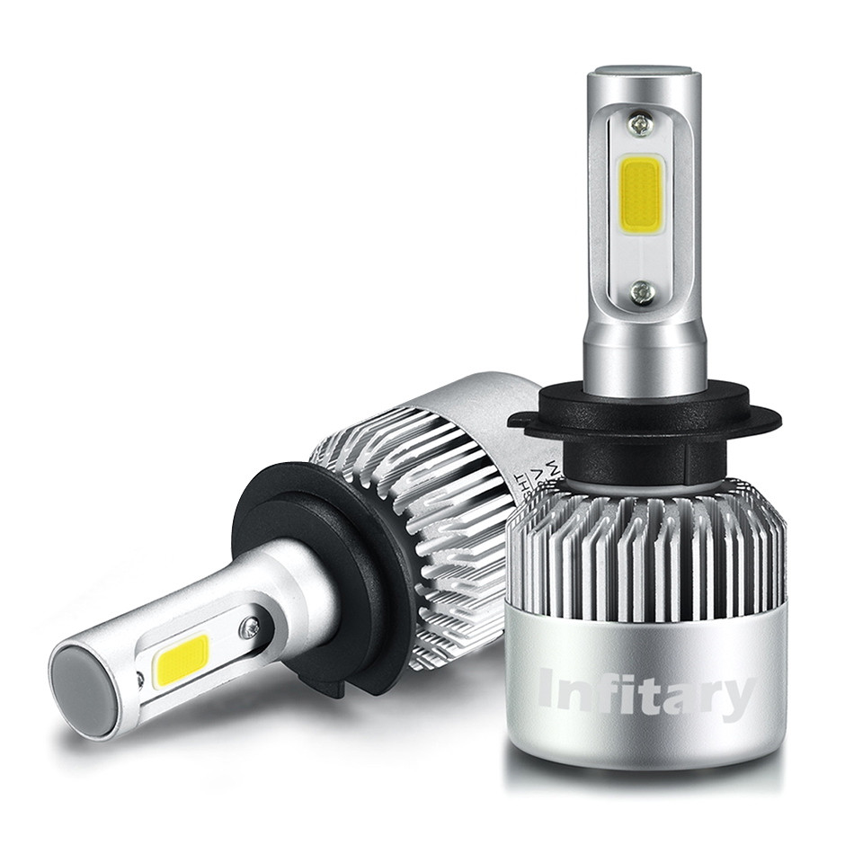 2 Pcs Car Headlight Lamp H7 LED H4 H1 H8 H9 H11 H13 H27 880 9004 9006 9007 72W 8000LM 6500K Auto Headlamp Light LED Bulb 12V 24V цены