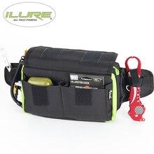 iLure 2017 New fishing bag 530g fishing multi-purpose bag tools bag fishing tackle bags Bait for bait with elastic fishing roll