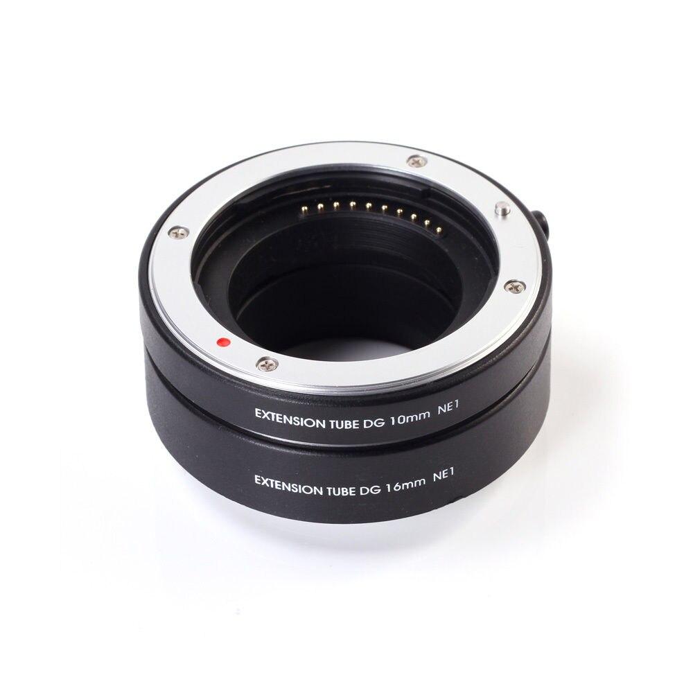 FOTGA Métal Montage Macro AF Auto Focus Tube Extension Anneau 10mm + 16mm Set DG pour Sony NEX monture E NEX NEX-6 NEX3 NEX5 Caméra