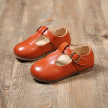 Baby Girls Shoes 2017 New Leather Spring Kids Toddlers Moccasins Soft Princess Mary Jane Brown Black Loafers