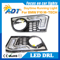 12V SMD Xenon white 6000K Auto led daytime running light function DRL for BMW 5 Series F10 M TECH Multi function driving fog