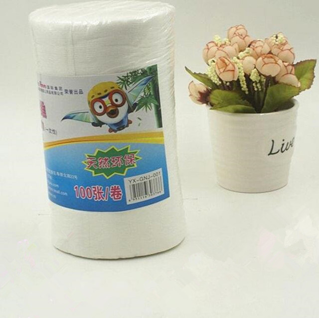 1 roll 100 sheets roll flushable disposable cloth diapers liner