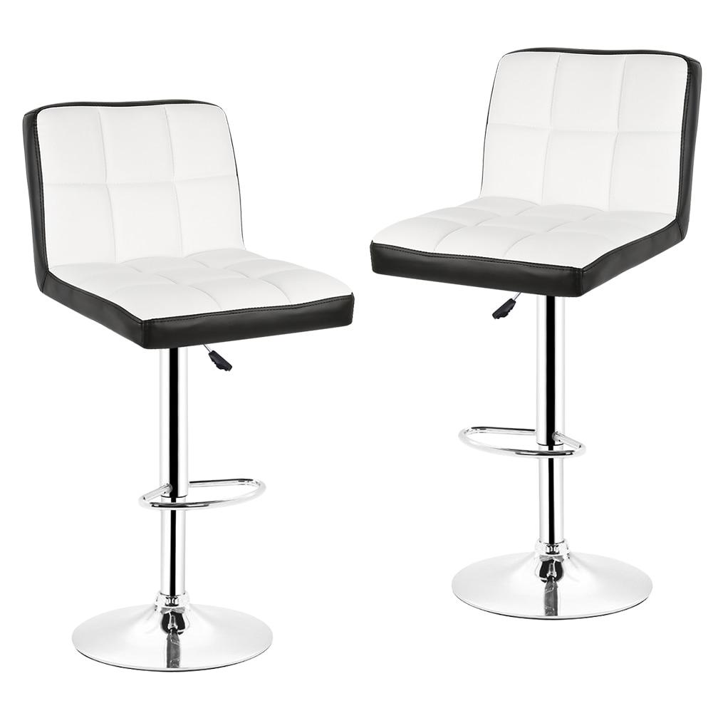 New 2pcs/set Bar Chairs Soft PU Leather Swivel Bar Stool Adjustable Lift Stool Bar Rotating Chaise De Bar Home Furniture HWC
