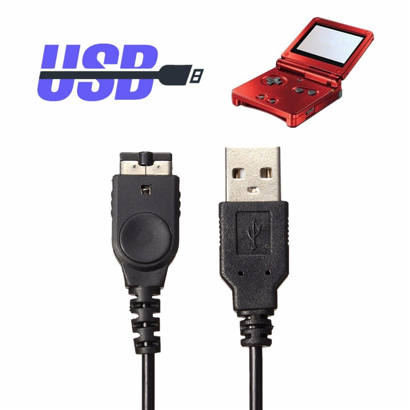 Black 1.2M 3.9ft USB Charging Power Cable Charger For Nintendo For Game Advance GBA SP Line