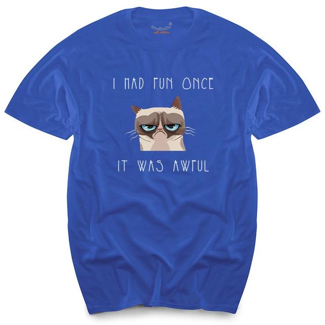 62c6d2ccd grumpy cat t-shirt meme shirt i had fun once men's women's boys girls  votton men's top tees black tshirt shubuzhi brand tee