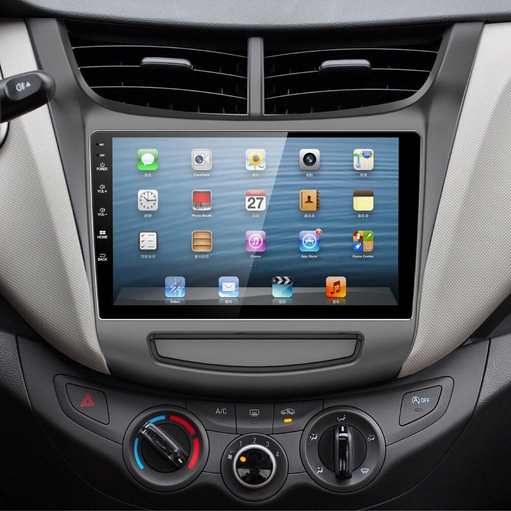 9 pouces écran Android 6.0 voiture GPS Navigation Radio système pour Chevrolet Sail 2015