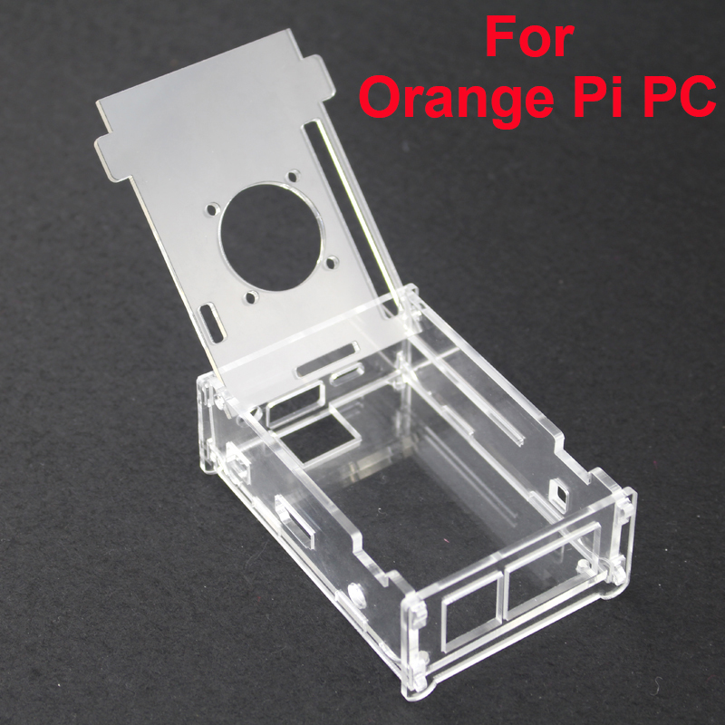 Transparent Acrylic Case For Orange Pi PC Clear Professional Enclosure Cover Shell Box Compatible For Orange Pi PC Plus