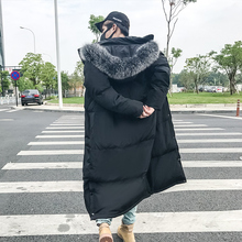 2017 Winter Brand Coat Men Fashion Fox Fur Cap Thickening Long Loose High-quality Snow Jackets Casual Warm Parka S-2xl
