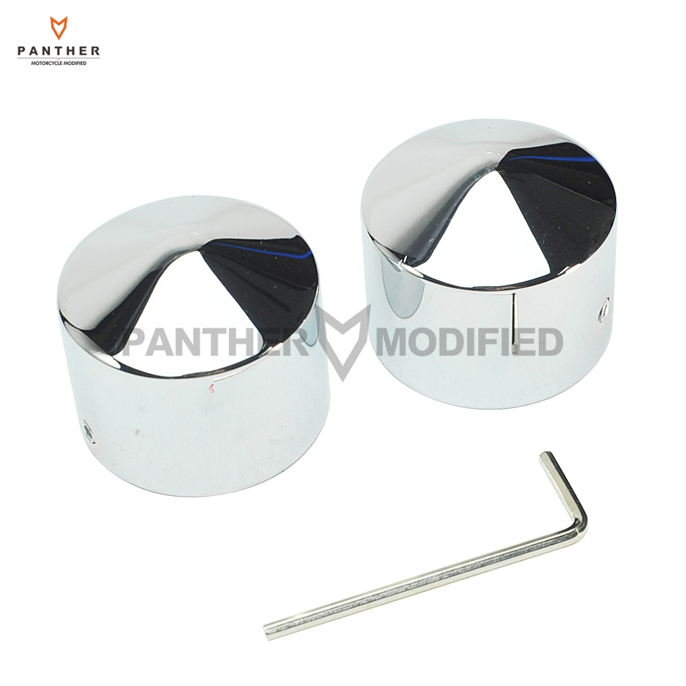 Chrome Motorcycles Front Axle Nut Cover Bolt case for Harley Dyna Touring Softail Glide FL XL883 1200