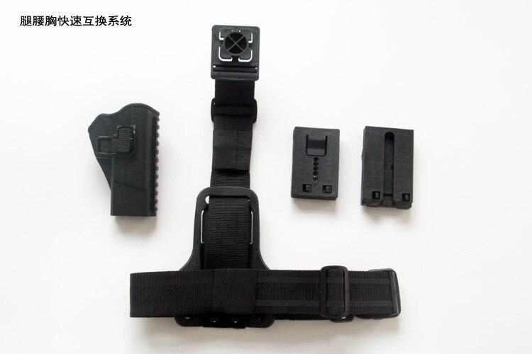Étui de pistolet multifonction jambe taille poitrine étui plate-forme chasse tactique étui de pistolet Airsoft Glock/92/92G/64/77/54/NP22/Revolver