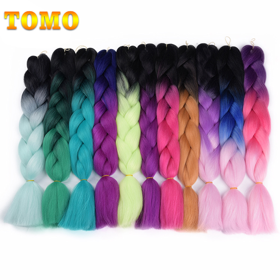 Hair Extensions & Wigs Jumbo Braids Nice Tomo Ombre Crochet Twist Kanekalon Jumbo Braids Hair 24inch 60cm Synthetic Crochet Braids 100g/pack Braiding Hair Extensions Catalogues Will Be Sent Upon Request