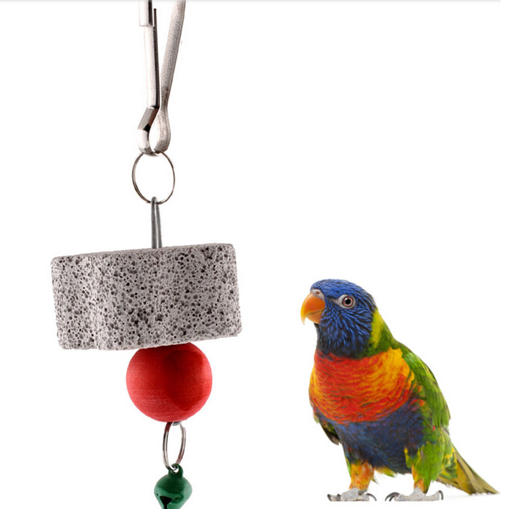 Parrot Mouth Grinding Stone Cage Toy Molar Stone Parakeet Cockatiel Toy Mineral 4cm Parrot Mouth Grinding Stone