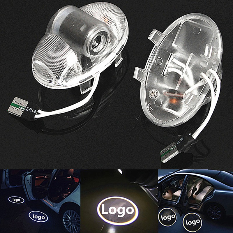2x Car Led Logo/Emblem Laser Lamp LED Car Door Step Ghost Shadow Welcome Projector Light Lamp For Mazda 8 11-15 For CX-9 07-15 1 pair auto brand emblem logo led lamp laser shadow car door welcome step projector shadow ghost light for audi vw chevys honda