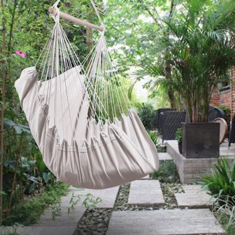 2019 Hanging Chair Hammock Portable Travel Camping Home Bedroom Swing Bed Lazy Chair Collapsible Home Garden With 2pcs Pillows