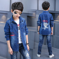 Kids Jean Jacket 2017 New Denim Coat For Boys Kids Denim Jacket Children Overcoat Outerwear Boys