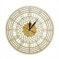 Большие часы в лондонском стиле из дерева  тихий кварцевый часы с изображением башни елиузы из дерева в деревенском стиле  настенные часы  С...
