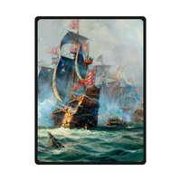 Vintage Sailboat Vessel Sailing Boat Pirate Ship On The Sea Print Flannel Throws Blankets Rug 58