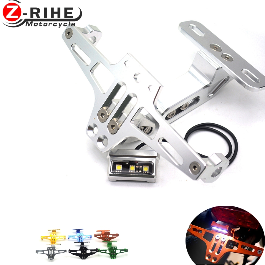 Motorcycle License Plate Bracket Licence Plate Holder Frame Number Plate&License plate lights For DUCATI 748/S/R 750SS 900SS 100 motorcycle tail tidy fender eliminator registration license plate holder bracket led light for ducati panigale 899 free shipping