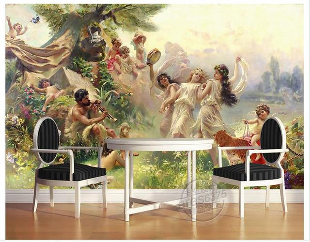 Customized 3d Photo Wallpaper TV Murals Angels Dance Party Background Wall Living Room