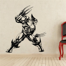 New arrival Free shipping diy wallpaper Wolverine Wall Decal Superhero Vinyl Sticker Decor Removable Waterproof