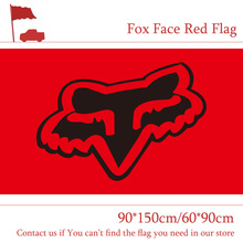 Free shipping 90*150cm/60*90cm Fox Face Red Flag For Car Show Bar Party Banner