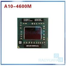 AMD laptop Mobile A10 4600M A10 4600m AM4600DEC44HJ original Socket FS1(FS1R2) CPU 4M Cache/2.3GHz/Quad Core processor