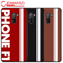 For Xiaomi Pocophone F1 Case Original Sports Street Leather Soft Edge Protector Cover for Pocofone F1 Case for POCO F1 Case capa платье edge street edge street ed008ewbkko3