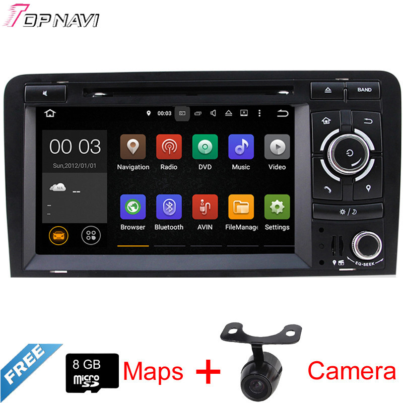 7 Quad Core Android 5 1 Car GPS For A3 2003 2004 2005 2006 2007 2008