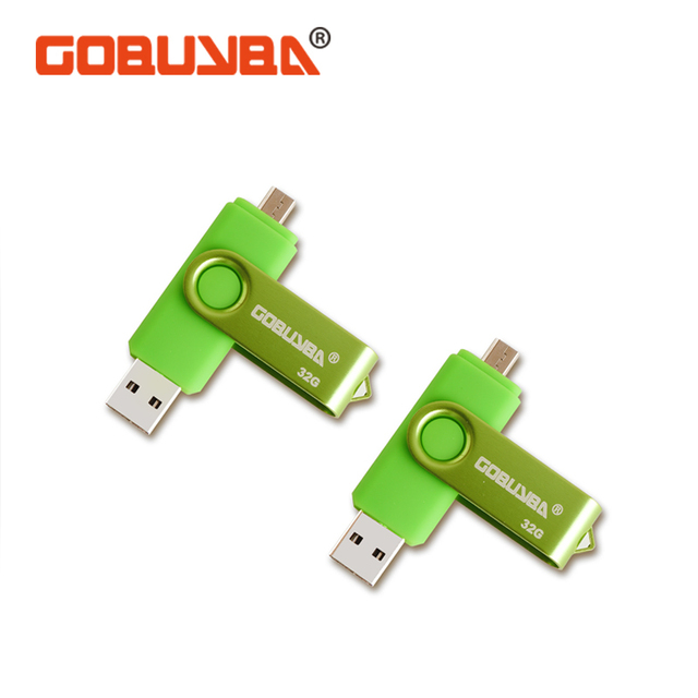 GOBUYBA OTG USB Flash Drive USB 2.0 Pen Drive Smartphone Pendrive Flash Memoria USB Stick Micro USB Portable Storage Flash drive