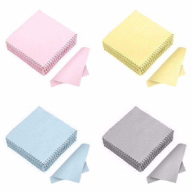 50 Túi Sạch Làm Sạch Vải Đánh Bóng Vải cho Sterling Silver Gold Bạch Kim Trang Sức Chống Hoen Ố #236383