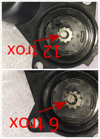 6 12 Tooth Black Rear Wheel Brake Caliper Servo Motor For Audi A6 C6 Allroad Avant