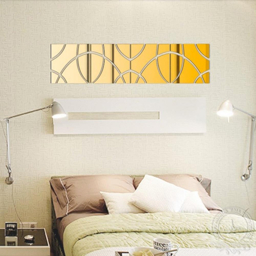 Avropanın məşhur 3 d DIY akril güzgü divarı müasir ev oturma - Ev dekoru - Fotoqrafiya 2