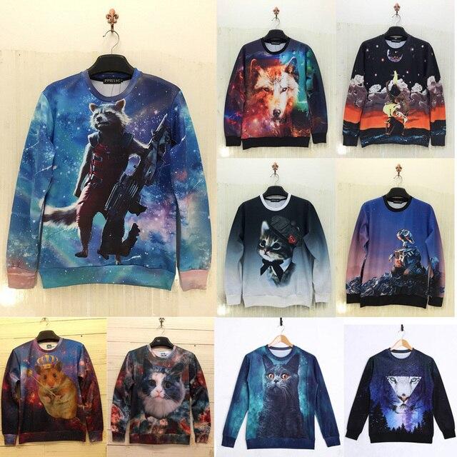 a177fb815c31 2015 brand fashion hipster hoodies men 3d anime animal element graphic  crewneck sweatshirts swag clothes sudaderas hombre blusas