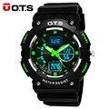 2016 Nova OTS Homens Esportes Militares Relógios de Luxo Da Marca À Prova D' Água LED Digital relógios de Pulso de Quartzo pulseira de borracha relogio masculino