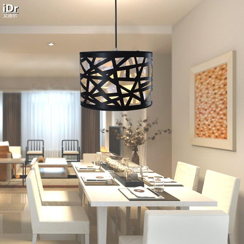 Moderne minimaliste restaurant bar simple tête étude abat-jour noir personnalité créative nid lampes pendentif lumières wwy-0060