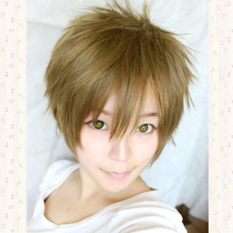 Tea Brown Tachibana Makoto Short Cosplay Anime Wig + Wig Cap